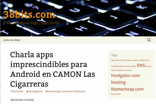 Captura de Pantalla del Blog www.38bits.com
