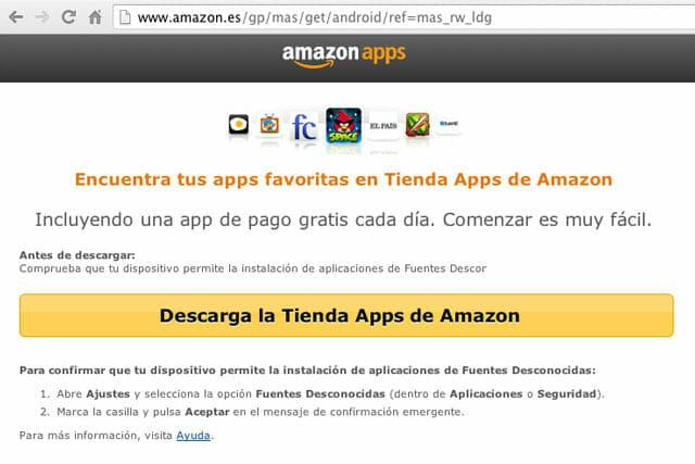Pantallazo de la Tienda de Apps de Android de Amazon