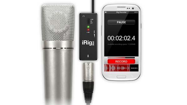 Grabar audio con dispositivos móviles Adaptador para micrófono iRig Pre de IK Multimedia