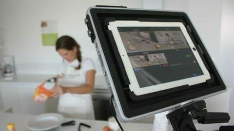 Grabando receta de cocina en The Padcaster con Recolive Multicam