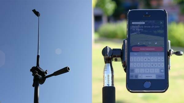 Palo de selfie, uno de los accesorios baratos para grabar vídeo con móviles
