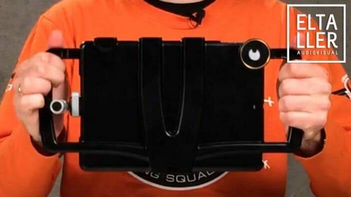 Soporte ergonómico para iPad - iOgrapher para trípode o grabaciones a mano