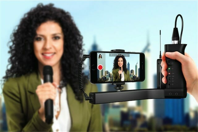 iKlip a/v accesorio de audio para periodistas con móviles