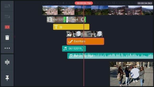 edición vídeo en movil kinemaster