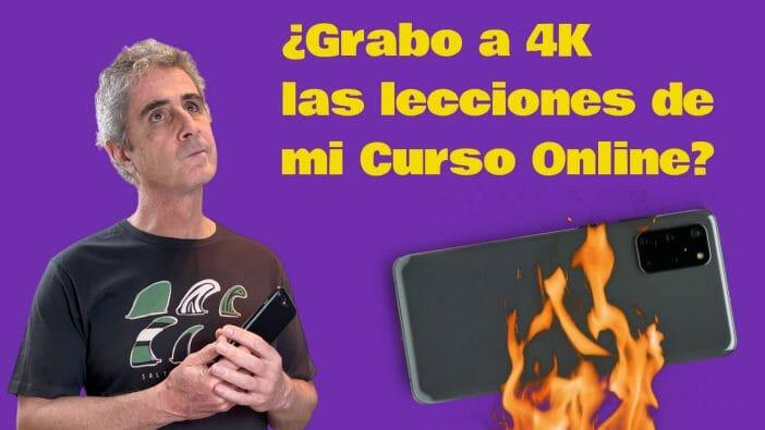 Grabo a 4K las lecciones de mi Curso Online